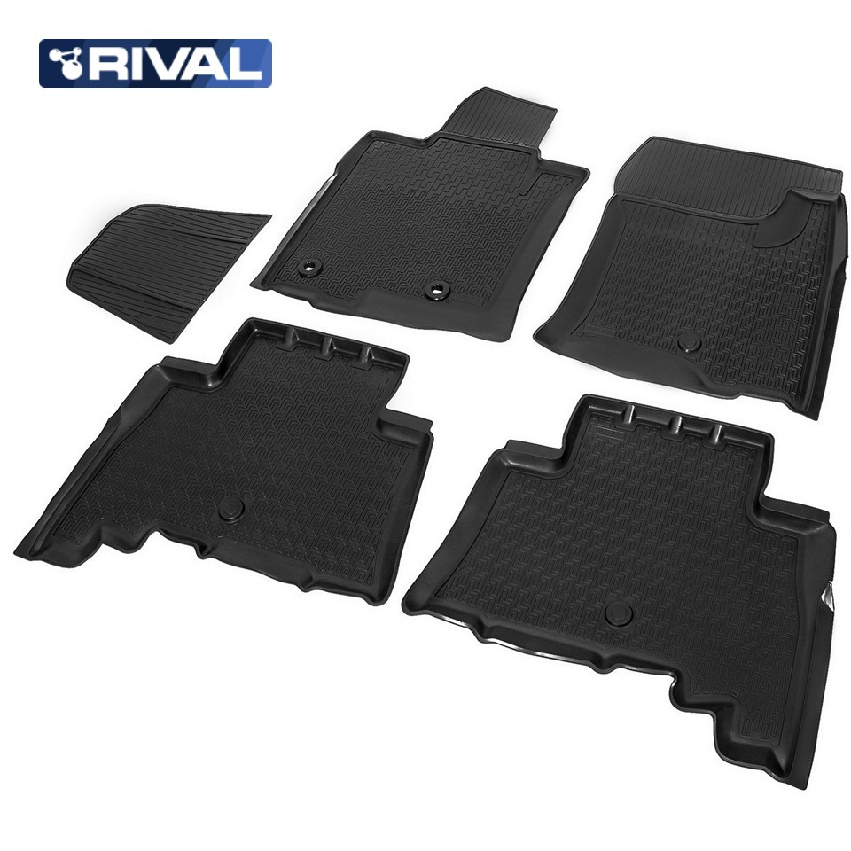 For Toyota Land Cruiser 150 Prado 2010-2013 floor mats into saloon 5 pcs/set Rival 15704001 цена и фото