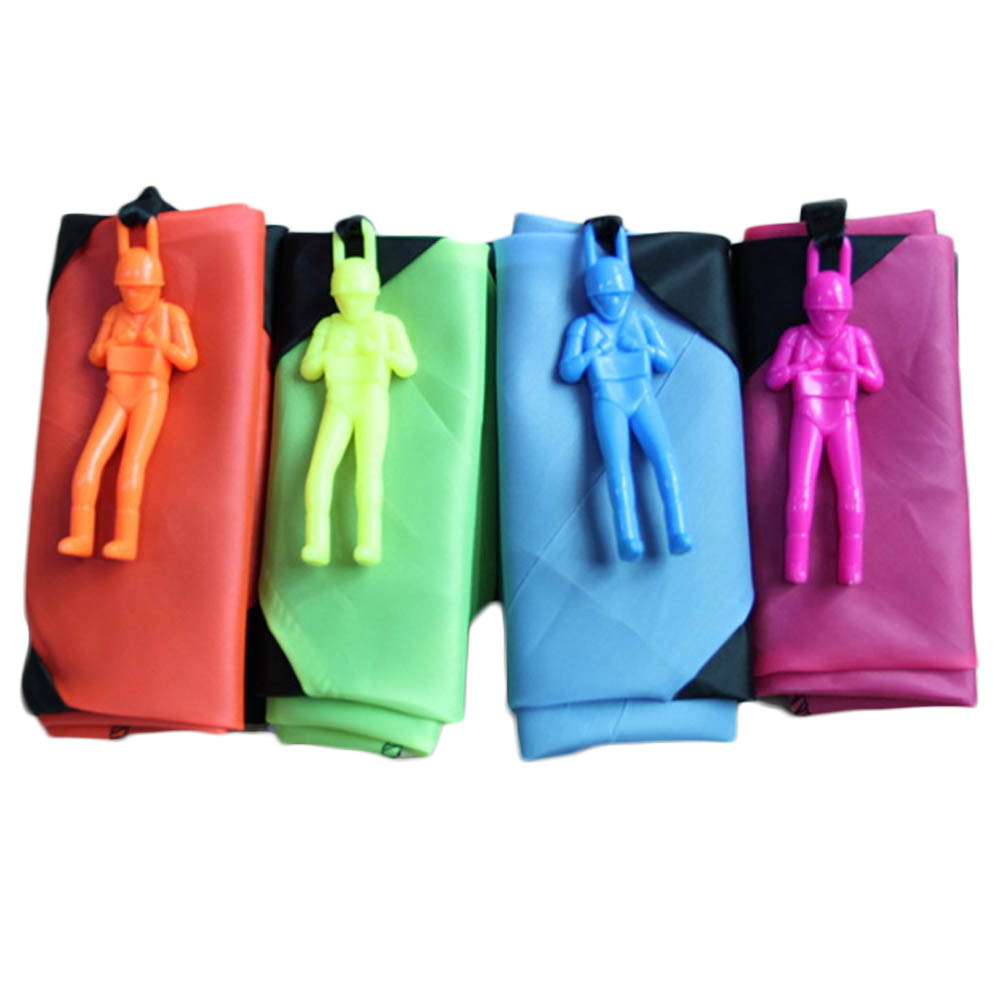 Hand Throwing parachute Toy Play Game For Childrens Educational Parachute With Figure Soldier Child Outdoor Fun Random Color