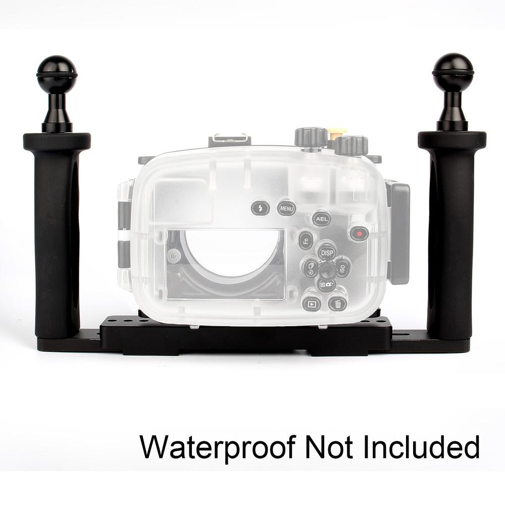 Meikon Two Hands Aluminium Tray for Underwater Camera Housing Case,Aluminium Tray for Camera Waterproof Bags Case Cover meikon 40m waterproof underwater camera housing case bag for canon 600d t3i