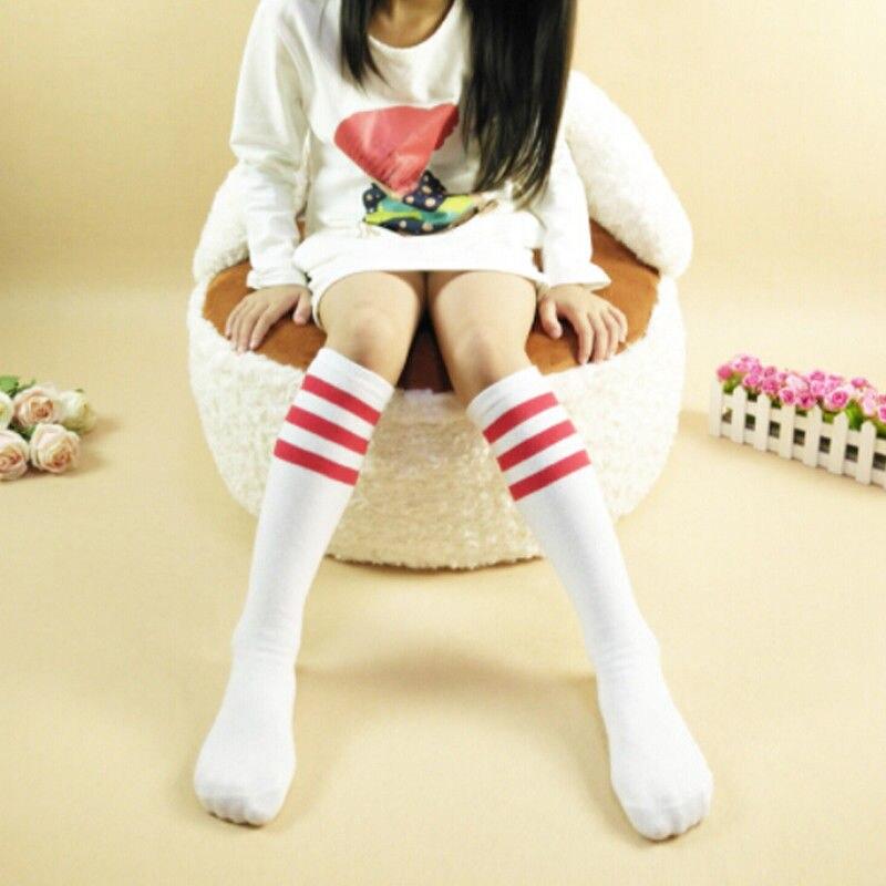 Baby Kids Girls Knee High Socks Winter Warm Breathable Striped Tube Long Socks