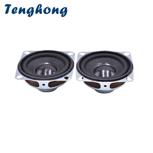 Tenghong 2pcs 2Inch 52MM Audio Speakers 4Ohm 5W Full Range Bluetooth Speaker Unit Horn Bass Multimedia Loudspeaker Home Theater
