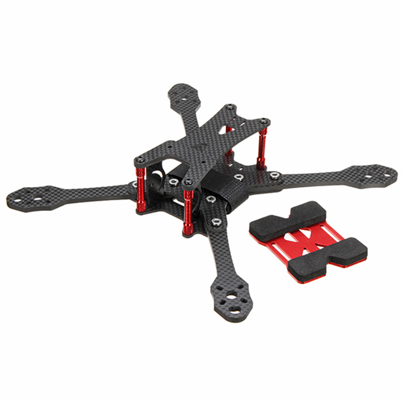 Original Minibigger Racer220 220mm Carbon Fiber 4mm Arm RC Drone FPV Racing Frame Kit with Wrench 105g rc across racer kit support kk mk mwc diy drone fpv f450 quadcopter multicopter frame with red white black frame arm mini quad