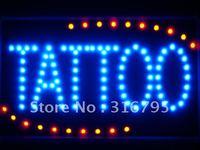 Led007-bタトゥー船オープンledネオンビジネスライトサイン卸売ドロップシッピング