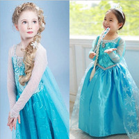 Spring Autumn Dress For Girls Cartton Disfraz Anna Elsa Elza Dress Kids Dresses Princess Sofia Girl