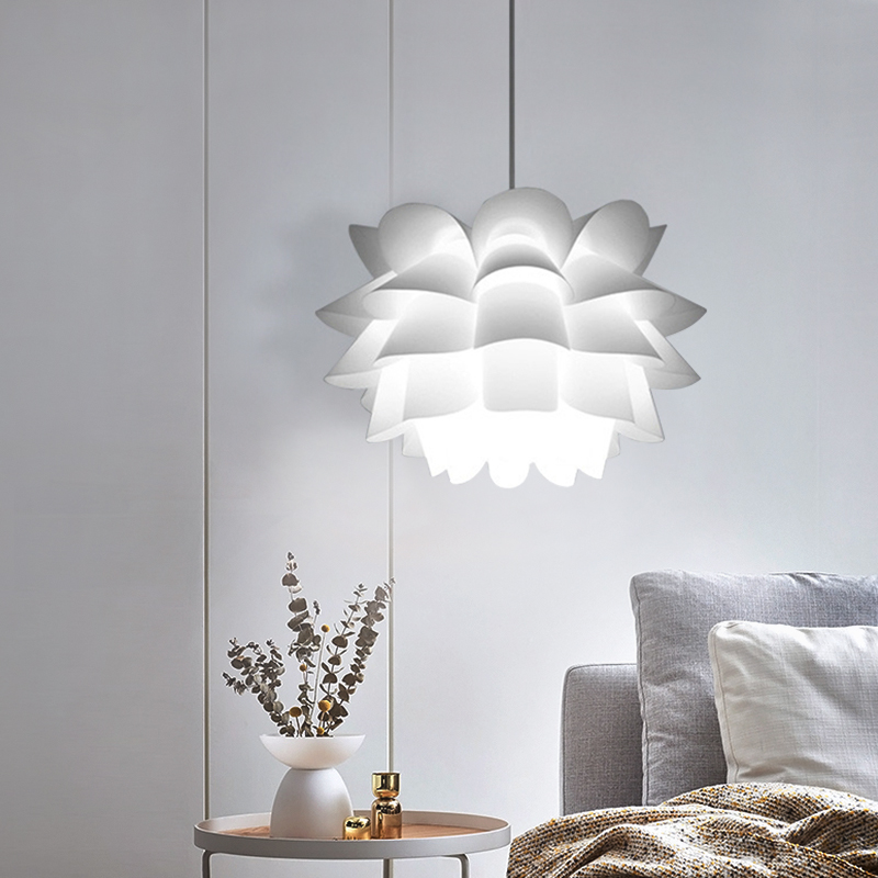 Flowers Pendant Lights White Lampshade Hanging Lamp Decorative LED DIY Cord suspension hanging lamp E27 lighting Fixtures Flowers Pendant Lights White Lampshade Hanging Lamp Decorative LED DIY Cord suspension hanging lamp E27 lighting Fixtures