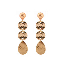 The new long environmental alloy fashion ladies earrings Metal wafer in Europe and the wind of jewelry