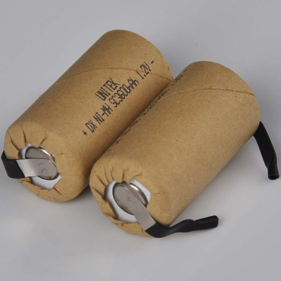 10-16 Uds 1,2 V SC recargable de 3000mah de la batería C Ni-MH celda con soldadura de pestañas para taladro eléctrico destornillador herramientas