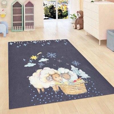 Else Dark Blue Night Stars Lamps Clouds Boys Kids Room 3d Print Non Slip Microfiber Children Kids Room Decorative Area Rug Mat