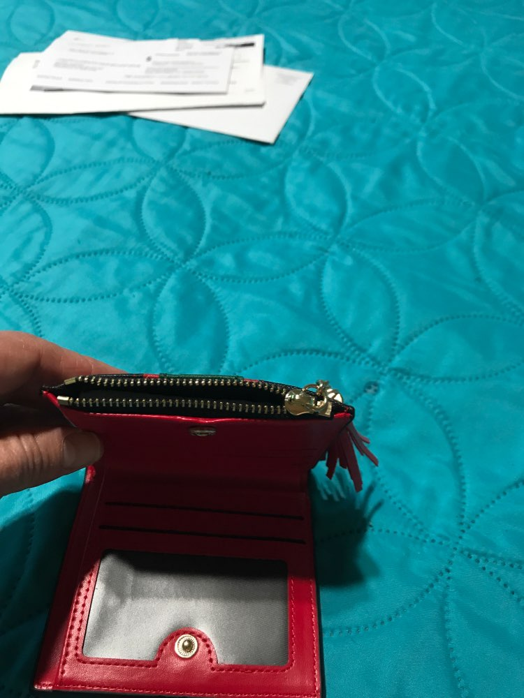 Hot Sale echt leer vrouwen portefeuilles vrouwen portemonnees Hasp portemonnee vrouwelijke kleine portemonnee lederen rits Carteira Feminina photo review