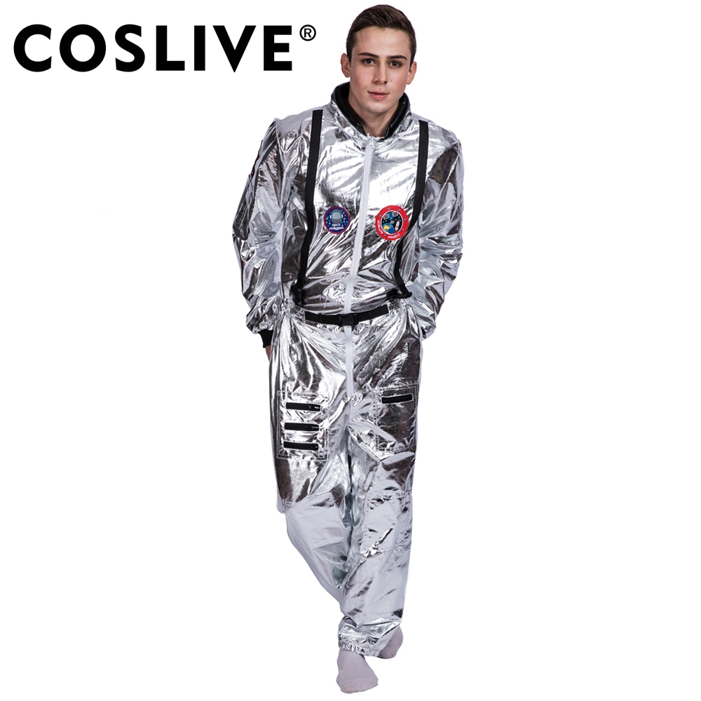 Coslive Astronaut Alien Pop Dancer Stage Spaceman Costume Outfits Clothing Fancy Costumes For Carnival Party Halloween Cosplay