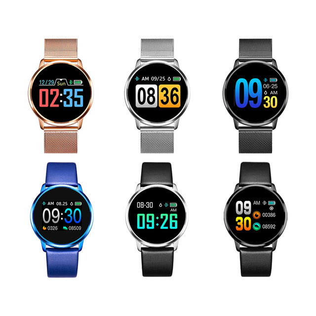 CYUC Q8 Smart Watch OLED Color Screen men Fashion Fitness Tracker Heart Rate Monitor Blood Pressure Oxygen Pedometer Smartwatch 4