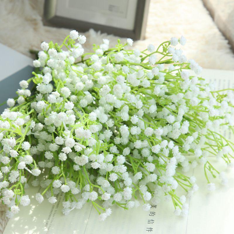 1Pc//Lot Artificial Flower Gypsophila Green Leaf Home Office Garden Wedding Decor