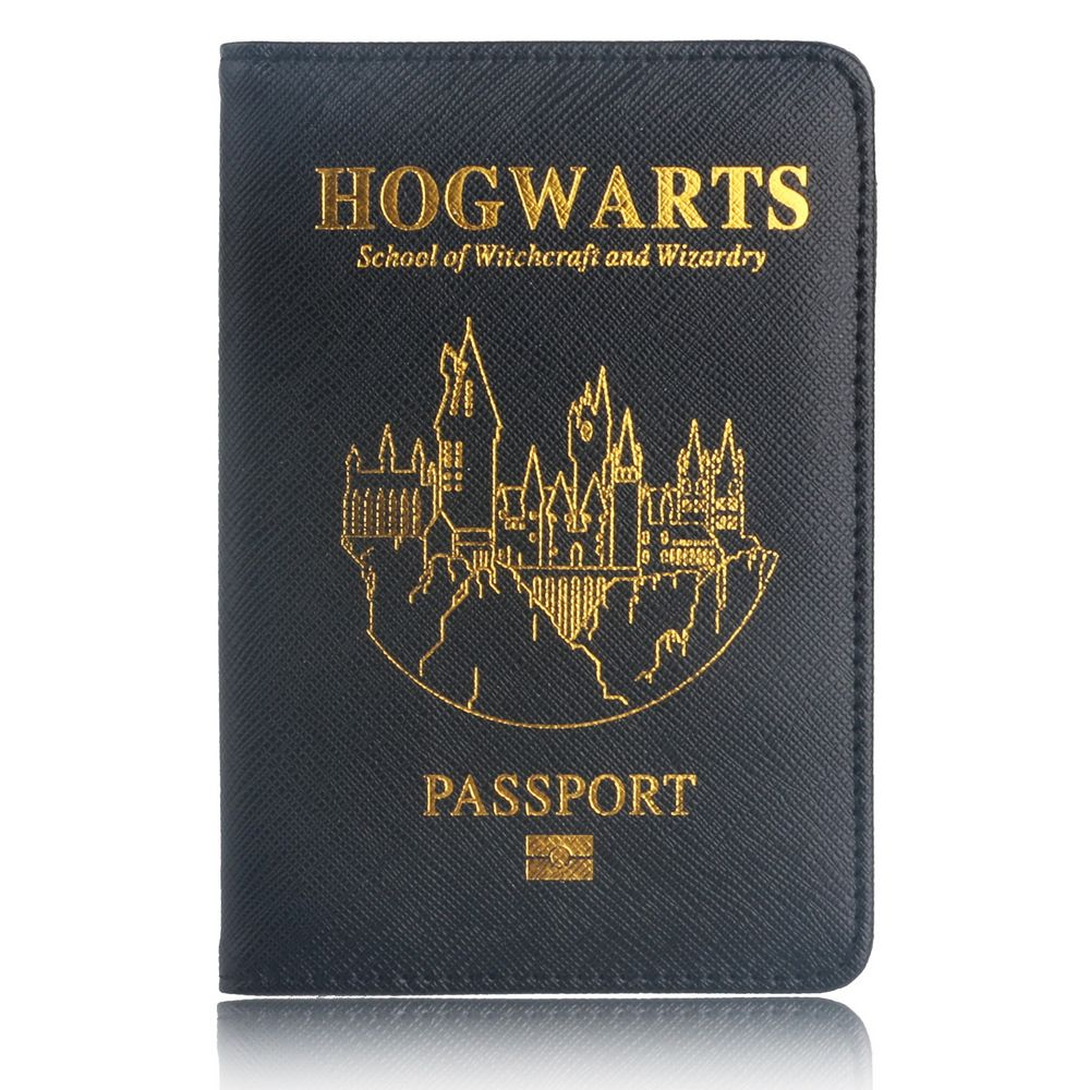 TRASSORY Multifunctional Rfid Blocking Harry Potter Passport Cove Leather Hogwarts Gryffindor Ravenclaw Passport Cover Case