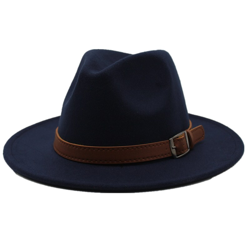 d51ae804 [Hot Sale] Seioum Special Felt Hat Men Fedora Hats with Belt Women Vintage Trilby  Caps Wool Fedora Warm Jazz Hat Chapeau Femme feutre -in Men's Fedoras from  ...