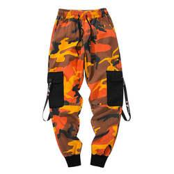 2018 новый камуфляж штаны-карго Для мужчин хлопок multi-карман уличная мода хип-хоп Camo Jogger Брюки Для мужчин