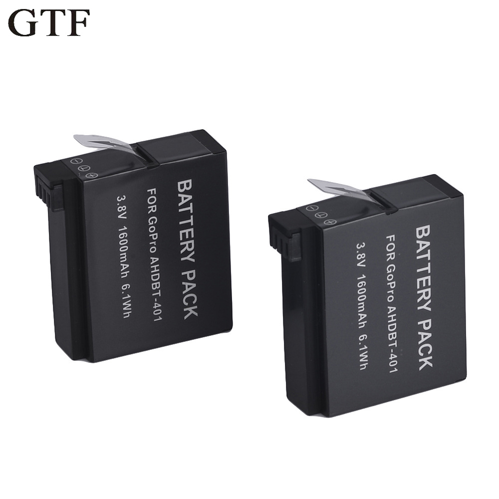 GTF gopro hero 4 ahdbt-401 ahdbt401 ahdbt 401 1600mah rechargeable digital camera battery for go pro gopro hero4 hero 4 Battery