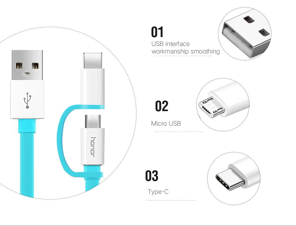 950_09_Huawei P20 Pro Travel Charger 2 in 1 Micro USB Typc C Cable Original 2A 1.5M Type-C Charge Cable Honor 8 9 V9 P7 P8 P9 P10 lite