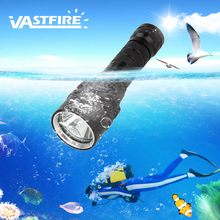VastFire T6 Portable 1000 Lumen Waterproof Flashlight Underwater 100m Diving Scuba Torch  XM-L LED Flashlight цена