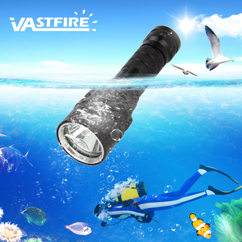 VastFire T6 Portable 1000 Lumen Waterproof Flashlight Underwater 100m Diving Scuba Torch  XM-L LED Flashlight