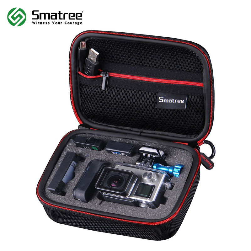 Smatree Carrying Camera bag for Gopro Hero 7/6/5/4/3+/3/SJCAM sj4000/Xiaomi Yi Action Camera Gopro Hero 2018 Fusion Camera bag luxcase защитная пленка для lg q6 q6a суперпрозрачная