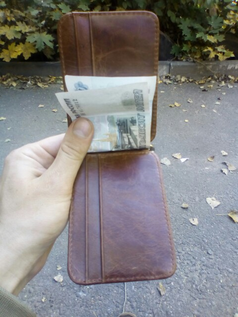 Men Money Clips Billfold Card Wallet Real Leather 2 Folded Open Clamp for Money Holder Credit Card Case Cash Clip 8 Card Pocket photo review
