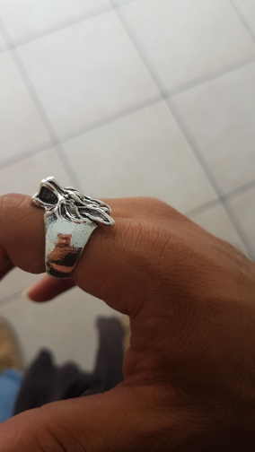 ZRM Fashion Jewely Vintage Charm Wolf Head Ring For Men And Women