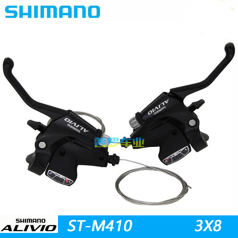 SHIMANO ALIVIO Bicycle Parts SL M410 MTB Shifter TRANSMISSION Thumb Shift Shifter Control Handle Gearbox Switch