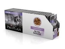 Pro Plan Nutrisavour Junior пауч для котят с индейкой (кусочки в соусе, 24*85 г)