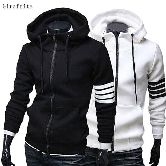 High Quality Men Hoodies Brand Leisure High Quality Men Sweatshirt Hoodie Casual Zipper Hooded Jackets Male