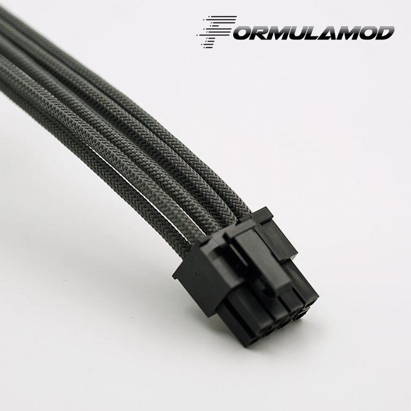 FormulaMod Fm-PCI8P-A, PCI-E 8Pin GPU удлинитель питания, материнская плата 18AWG 8Pin многоцветные соответствующие кабели расширения - Цвет лезвия: Gray