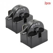 2 шт. QP2-4.7 Холодильник PTC пусковое реле одноножной ремень привода вентилятора 1 контактный винный центр охладители для напитков компрессор стартер