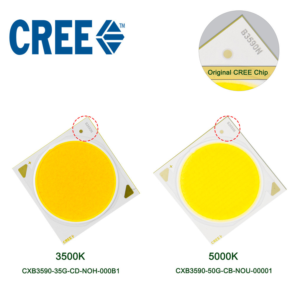 LED Grow Light Chip CREE COB CXB3590 3500K 5000K 12000LM Original Chip High Power Lumens For DIY Plant Growing Lamp