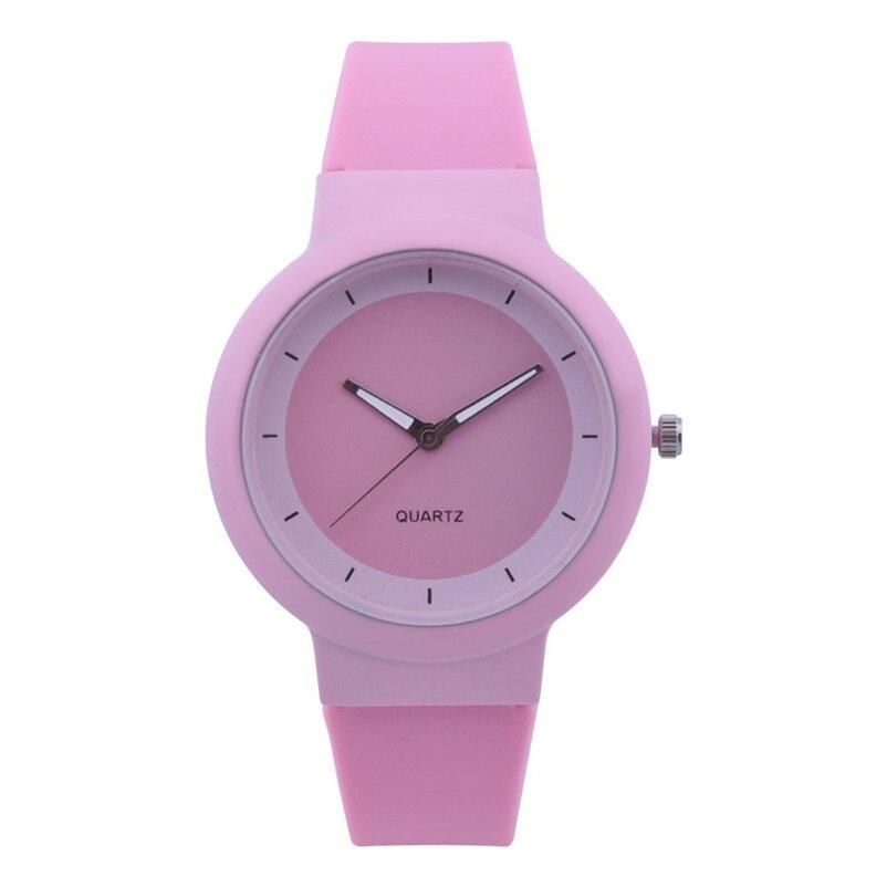 Fashion women watches bracelet watch ladies Silicone Band Analog Quartz Round Wrist Watch Watches clock Relogio Masculino S20 (2)