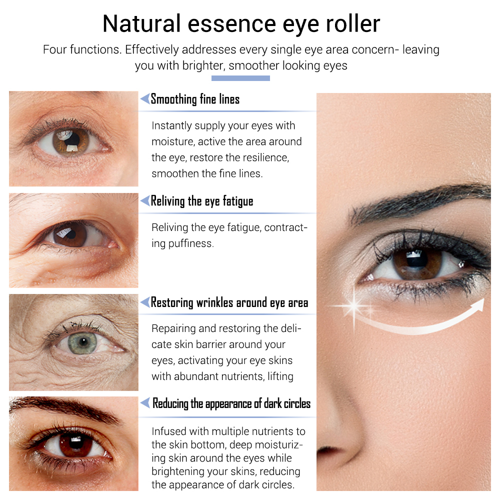Eye Serum Anti Wrinkle Aging Snail Essence for Eyes Anti Puffiness Against Bags Hyaluronic Acid Moisturizing Skin Care LANBENA