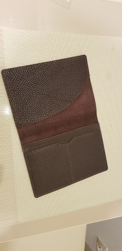 High-end Genuine Leather Passport Cover Solid Credit Card Holder Vintage Men Women Passport Case Business Unisex Travel Wallet photo review