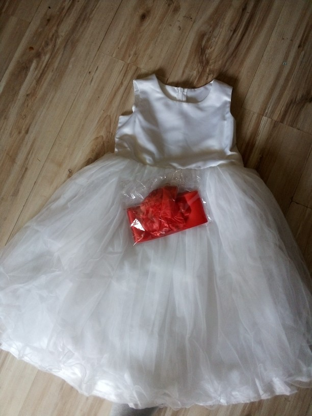 Dress Baby Girl for Wedding 2-12 Years White Dress Baby Girl Party Kid Tutu Dress Bow Sweet Princess Baby Clothing