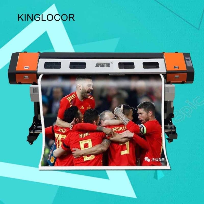 1440dpi Large Format Printing Machine Digital Vinyl Banner Poster 1.6m Inkjet Eco Solvent Printer