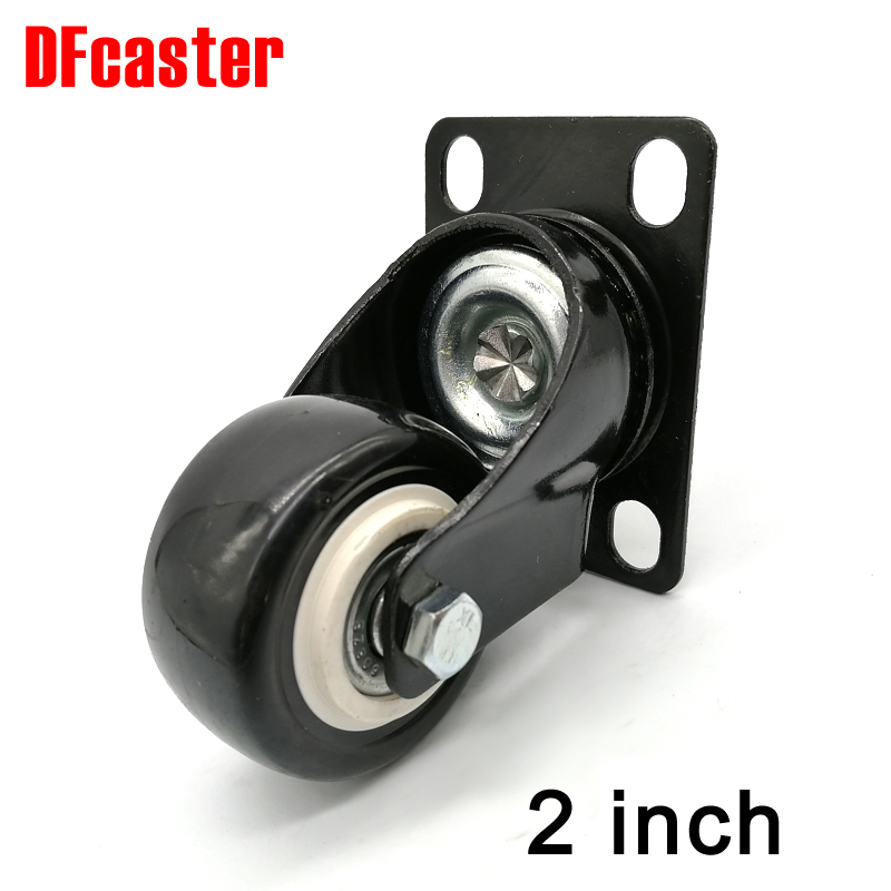 360 Degree Casters 50mm ( 2 ) 2 inch Universal Caster Double bearing Wheels PU castor Rollers Furniture Chair Wheel opi лак для ногтей race red 15 мл