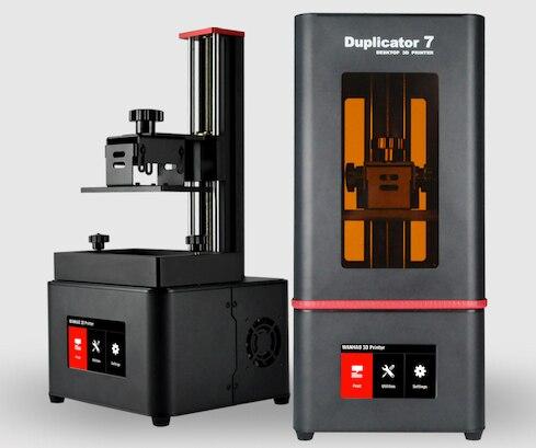 2019 NOUVEAU! Wanhao duplicateur 7 PLUS imprimante 3D (V1.5) imprimante 3D à écran tactile DLP SLA résine UV avec nouveau couvercle