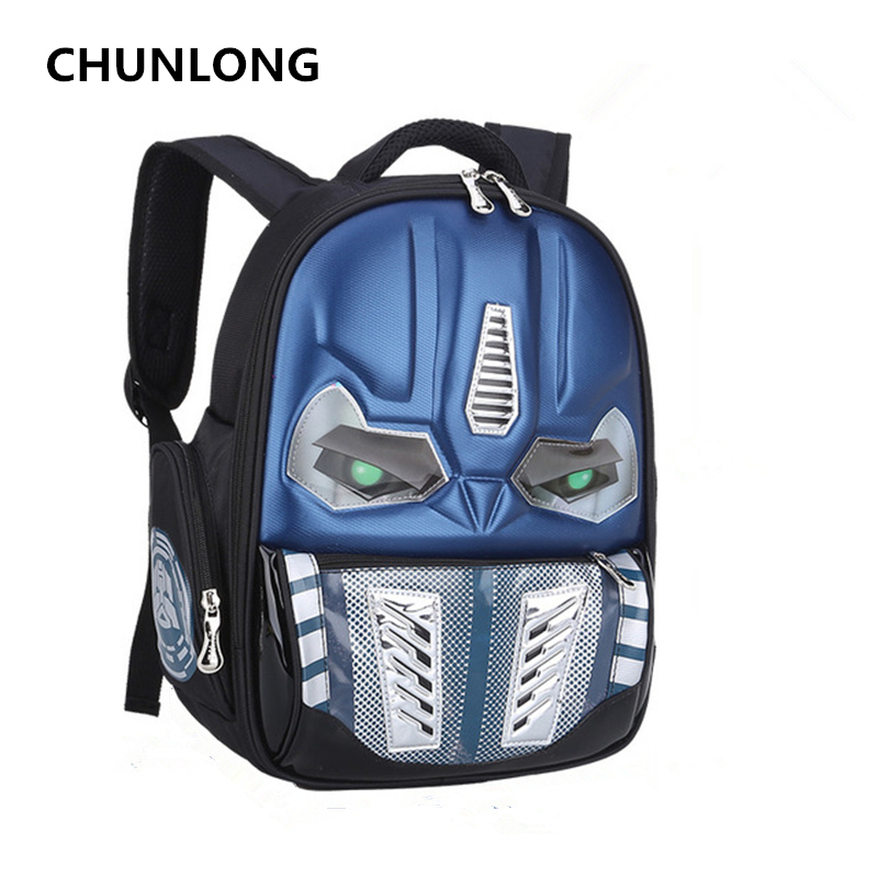 CHUNLONG 3D Cartoon School Bags For Boys and grils Children Backpacks Kids Child School Bag personality Backpack mochila escolar fashion cartoon car and plane printing backpack for elementary school children backpack school bags mochila escolar infantil