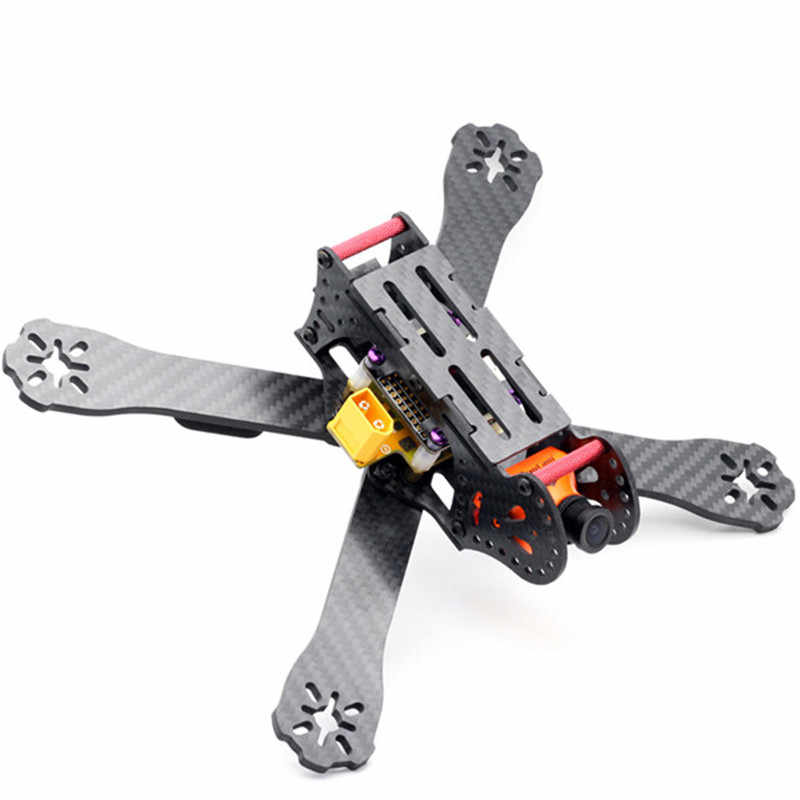 New 220mm Wheelbase 3K Carbon Fiber Racing Frame Kit 4mm Arm with PDB Board for Racing Racer RC Drones FPV Quadcopter Toys