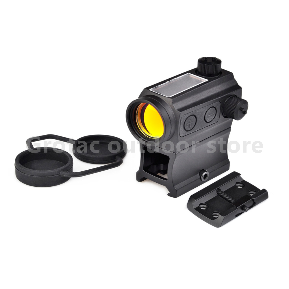 Aim-O Solar Power Red Dot With Riser Mount & Low Mount Red Laser Riflescope AO5069 target solar power t1 t 1 red dot with riser mount and low mount tan ipsc hs403c hs503c