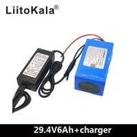 LiitoKala 24 V 6Ah 7S3P 18650 batterie au lithium 24 v vélo électrique cyclomoteur/électrique/lithium ion batterie + 29.4V2A