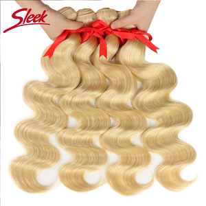 Image 3 - Sleek Mink Brazilian Body Wave Hair Blonde 613 Color Hair Weave 10 To 26 Inches Bundles Remy Hair Extension Free Shipping