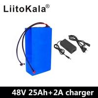 LiitoKala 48V25ah 48 V pil Lityum Pil Paketi 48 V 25AH 2000 W elektrikli bisiklet pil dahili 50A BMS + 54.6 V 2A şarj cihazı