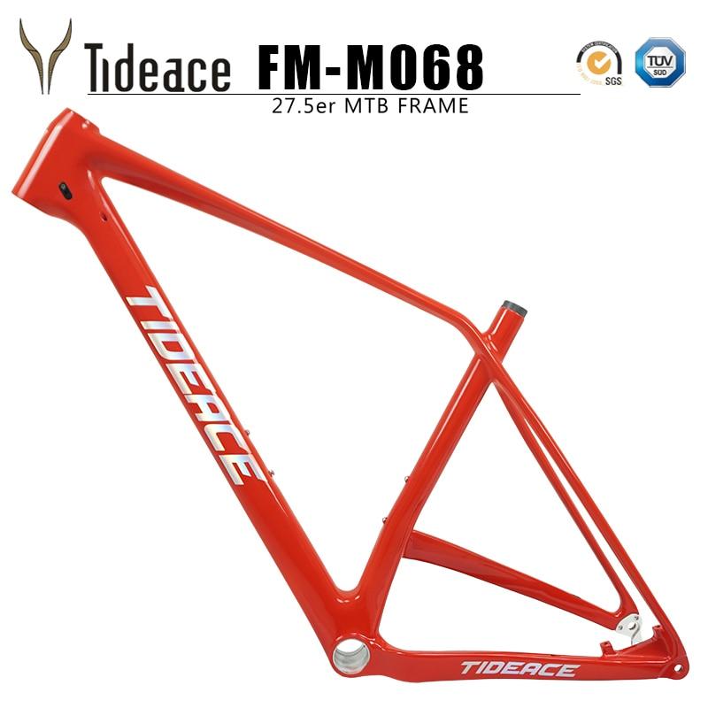Tideace hardtail 27.5er full mtb carbon frame carbon mountain bicycle frame 27.5 plus full carbon fiber OEM boost mountain frame