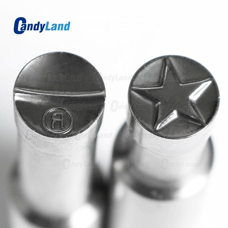 CandyLand Star R Milk Tablet Die Pill Press Die Candy Punch Die Set Custom Logo Punch