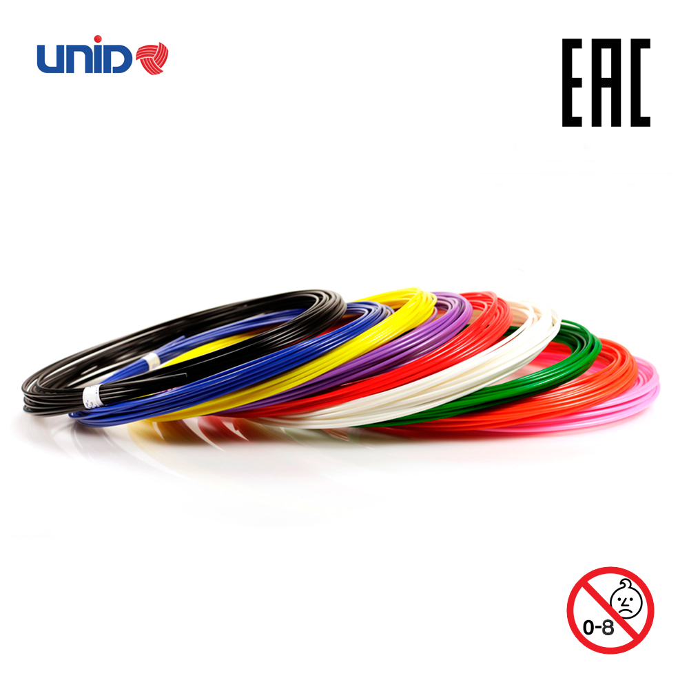 3D Pen Fillament UNID ABS 9 Multicolor Set KID PLA PRO 3D Printing Print birthday present Creativity Smart doodle drawing creopop ink for 3d printer pen plastic pla abs filament set petg rods moscow cheap russia delivery classic black blue green