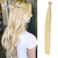 HiArt Hair 1g/pc Flat Tip Hair Extensions Real Human Virgin Cuticle Hair Salon Piano Color P613/24 Double Drawn Fushion Hair