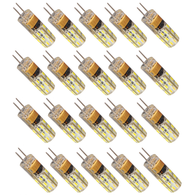 20pcs/lot G4 LED Lighting Bulbs 2W LED Spotlight Bulb Lamp in crystal Lighting lamp AC DC 12V 3014 SMD